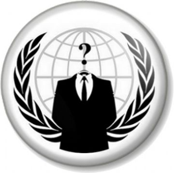 Anonymous Pin Button Badge Anarchist V for Vendetta Hacker Business Suit Protest Rebel Anarchist